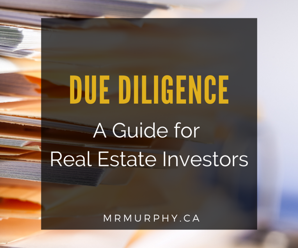 Due Diligence: A Guide for Real Estate Investors