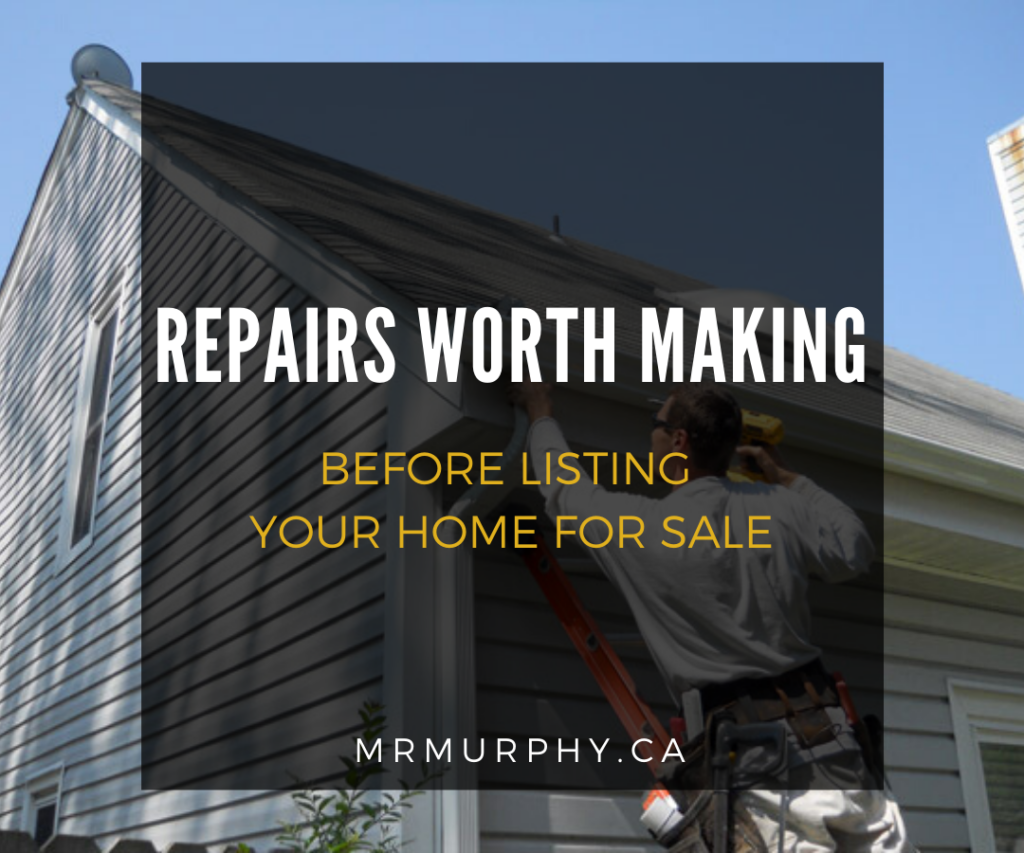 Repairs Worth Making Before Listing Your Home For Sale